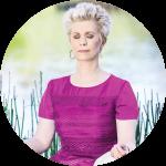 Deborah meditating